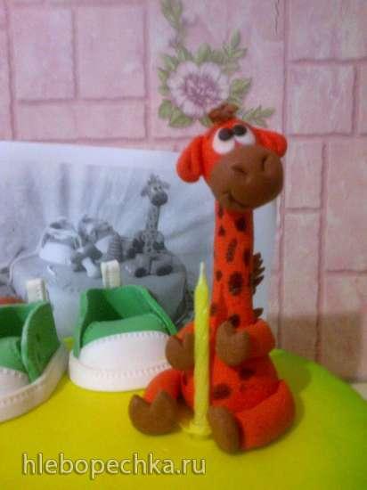 Лепка Жирафчика из мастики