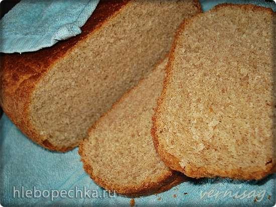 Хлеб с цельнозерновой мукой и овсяными отрубями (в мультиварке Redmond RMC-02)