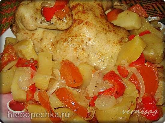 Курица с овощами в медленноварке