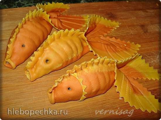 Манты «Золотая рыбка» (идеи для цветного теста)