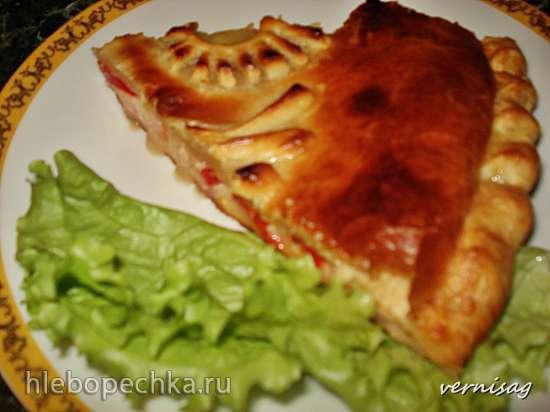 Пирог из слоеного теста (в пиццамейкере Princess 115000)