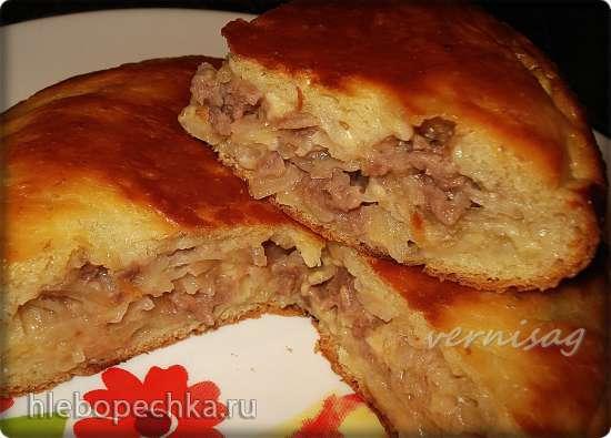 Пирог с мясом , сыром и картофелем (мультиварка Redmond RMS-02)