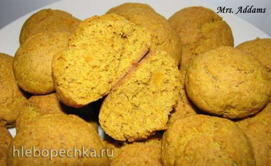 Цельнозерновое тыквенное (апельсиновое) печенье в пиццамейкере Princess