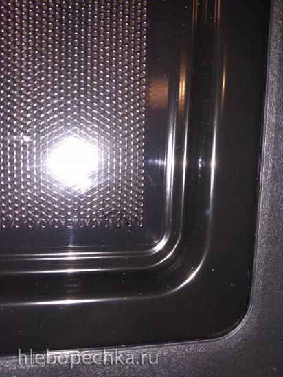 В новой микроволновке дверца запотевает между стеклами
