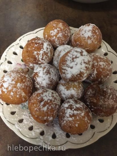 Пончики творожные с корицей