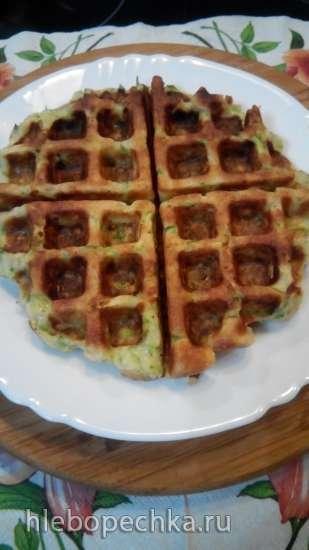 Кабачковые вафли в вафельнице GF-020 Waffle Pro