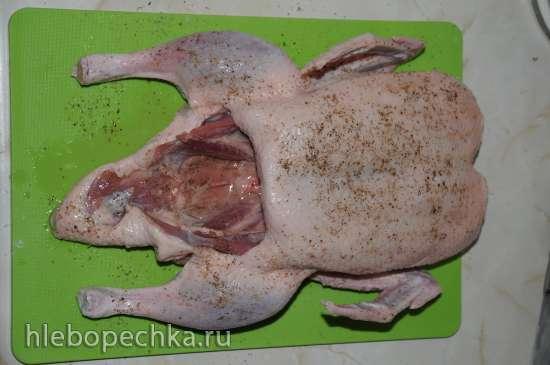 Утка, запеченная в рукаве в духовке