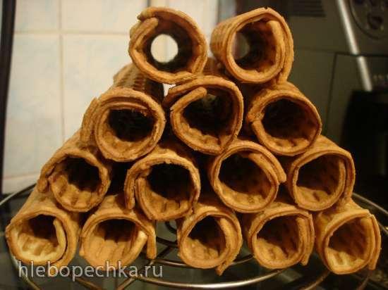 Вафельные трубочки с кремом