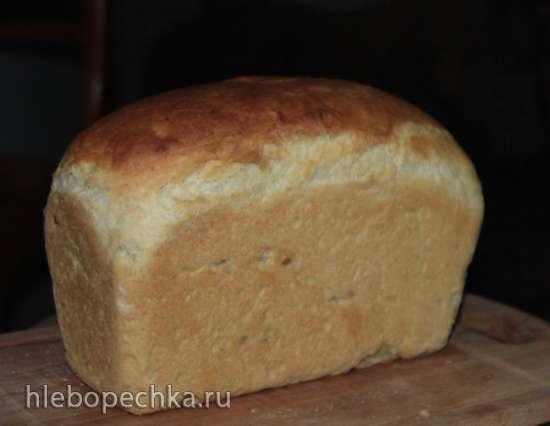 Хлеб пшеничный формовой с яблоком (духовка)