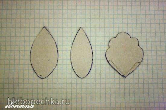 Шаблоны и выкройки различных цветов и листьев