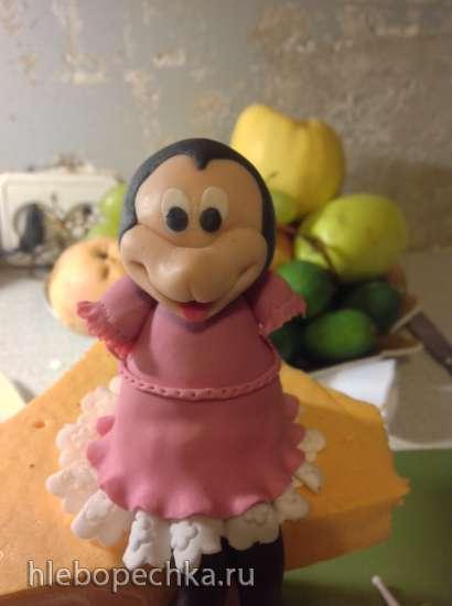 Минни-Маус (мастер-класс по лепке из мастики)