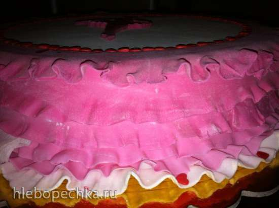 Торты, украшенные мастикой и марципаном (7)
