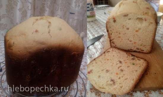 Кулич из александрийского теста в хлебопечке