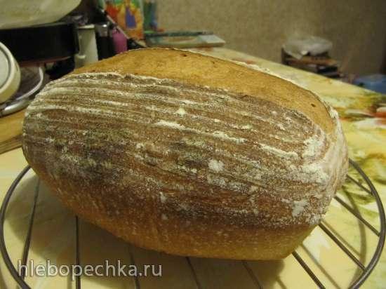 Простой пшеничный хлеб по методу раз-два-три (Easy Formula for Sourdough Bread)