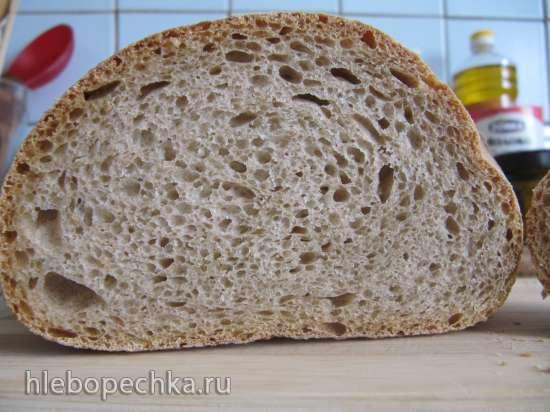 Хлеб пшеничный на закваске с полбяной мукой