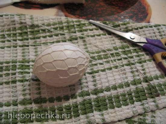 Клетчатые яйца, крашеные в луковой шелухе (посвящается ГлавВрачу форума ШуМаше)