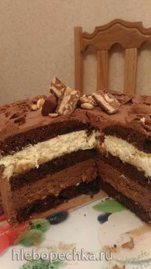 "Торт ""Сникерс"" от Алины Ахмадиевой"
