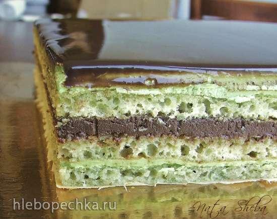 Торт Опера «Зеленый чай» (Opera Green Tea, мастер-класс)