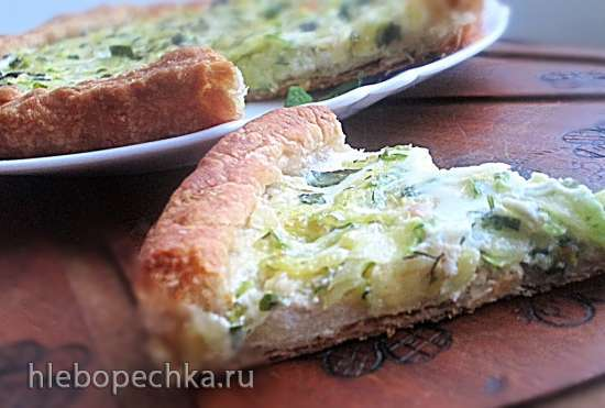 Тарт из цукини с мятой и козьим сыром
