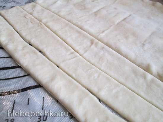 Наливное фаршированное яблочко в тесте