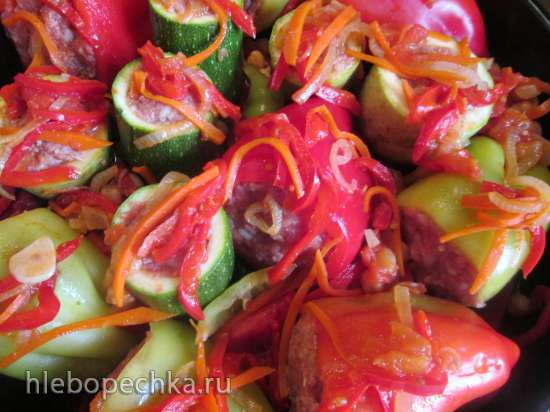 Запеченные фаршированные  овощи по-узбекски