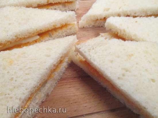Сэндвичи с моцареллой к завтраку
