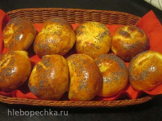 Булочки апельсиновые  с кокосом