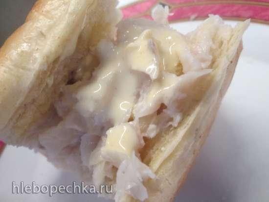 Закуска из рыбы, запеченная в багете