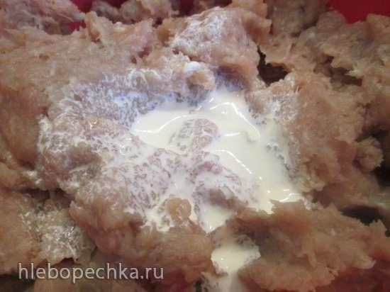Запеканка мясная из куриного фарша с морковью и шпинатом