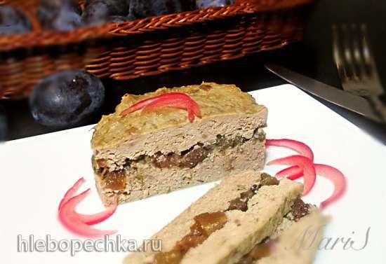 Паштет из индейки с  печенью и сливами