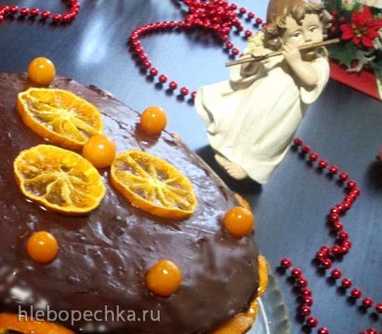 Маковый торт с орехами и вареной сгущенкой
