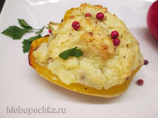 Перец с мясом под картофельной шапочкой
