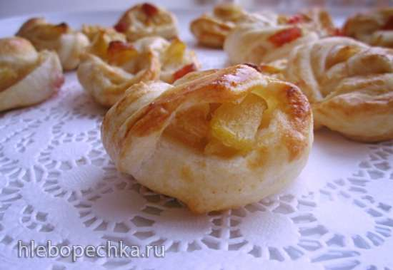 Слоеные яблочные веночки