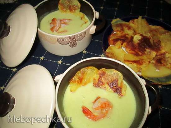 Карри-суп с креветками