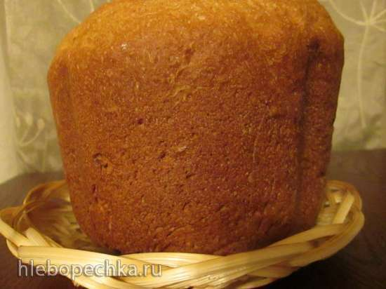 Пшеничный цельнозерновой хлеб на йогурте с яблоком
