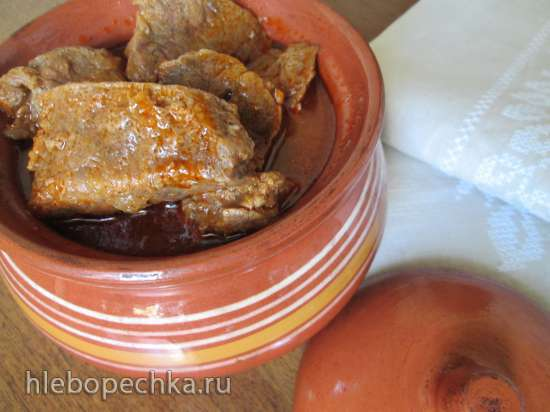 Гуляш из телятины  по-австрийски (Kalbsgulash)