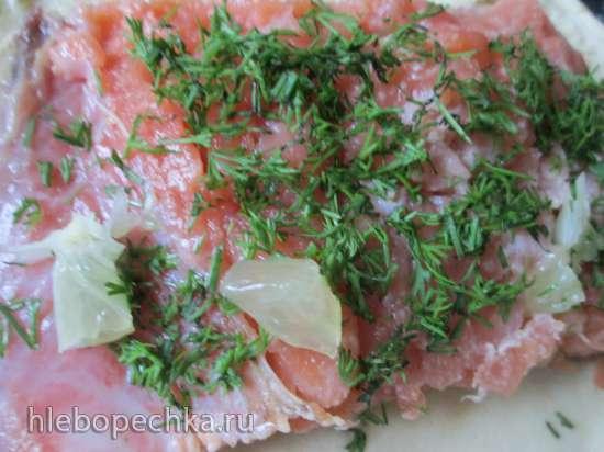 Запеченный в соленом тесте лосось по-немецки