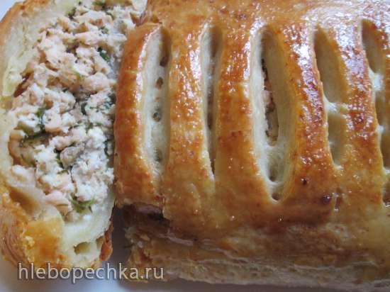 Штрудель из творожного теста с лососем от Карла Шумахера