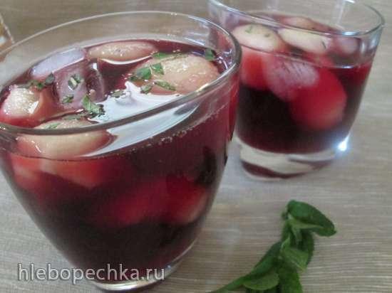 Дынные шарики в сиропе с вином