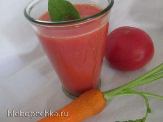 Смузи из цветной капусты с помидорами и морковью