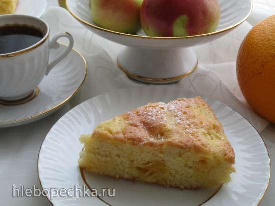 Пирог яблочно-апельсиновый с имбирной ноткой