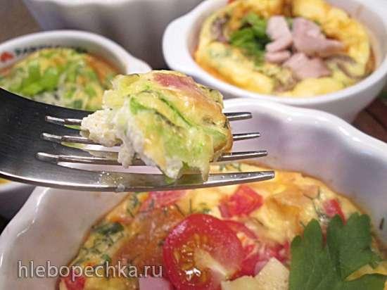 Омлеты порционные в духовке с разными начинками