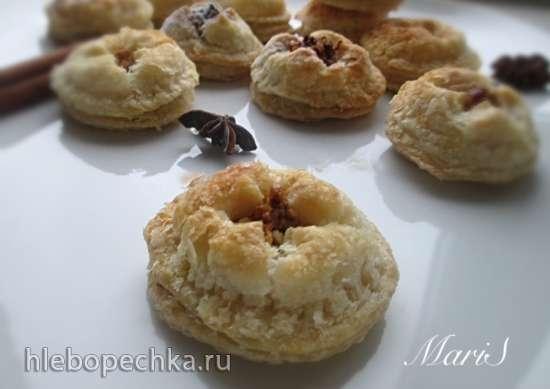 Печенье по-восточному из слоеного теста