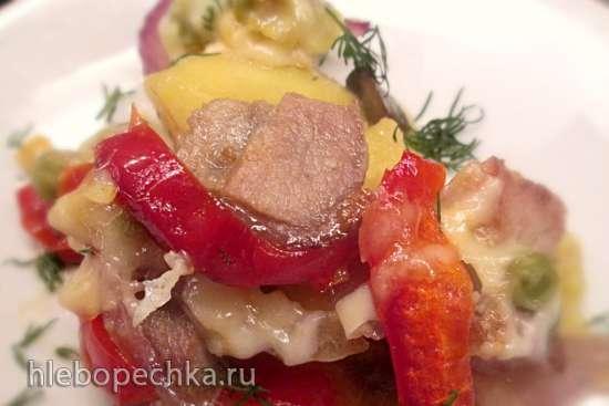 Запеканка из свинины с овощами