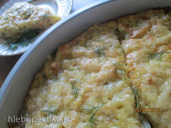 Овощной кугель с картофелем