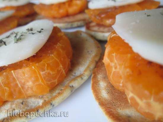 Оладьи маковые с цедрой и пряными мандаринами