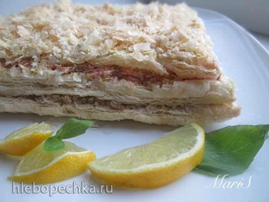 """Торт - закуска рыбный """"Наполеон"""" с яблоками"""