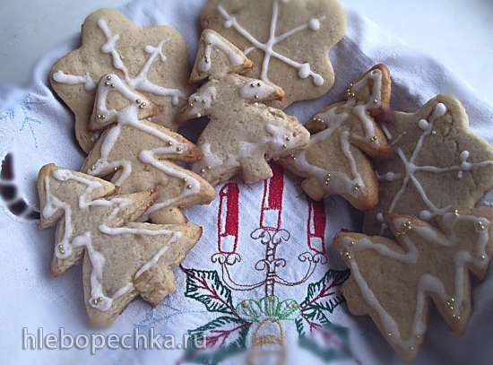 Английское рождественское печенье с сахарным имбирем