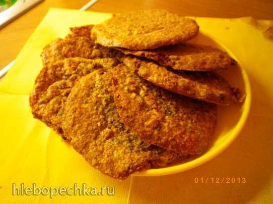 Пирожное с орехами и сухофруктами типа миндального
