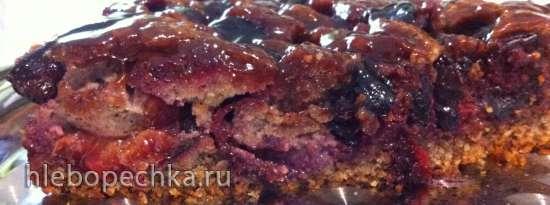 Торт Ореховый со сливами